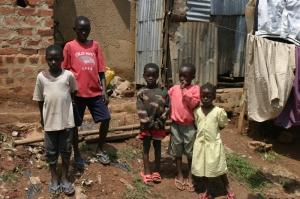 Kids living in the slums of Uganda