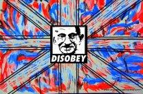 adoptation of (c) Obey stencil of Gandhi by CeciliaWYu, 2011