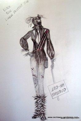 Black bloc courture Lol by (c) CeciliaWYu, 2011