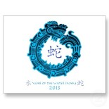 http://www.zazzle.co.uk/2013_year_of_the_water_snake_post_cards-239311888707124449