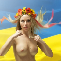 Ukraine: Femen Raw and Naked: Boobs for Putin! End Exploitation/Sex Tourism NOW!