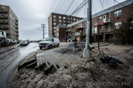 Boardwalk washed up on to someones house.hurricane sandy