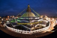 boudha stupa night