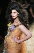 Crystal Renn modelling Jean paul Gaultier