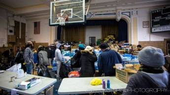 Relief center. Hurricane Sandy 2012