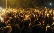 29th December 2012 - peaceful protest after the death of the 23-year-old student from New Dehli who died from her injuries caused by a gang-rape two weeks earlier.(1)