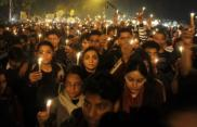 29th December 2012 - peaceful protest after the death of the 23-year-old student from New Dehli who died from her injuries caused by a gang-rape two weeks earlier.