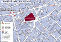Map to Google Building London Central St.Giles