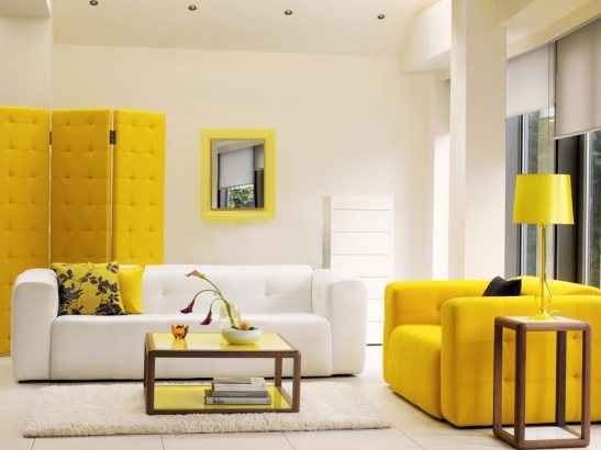 Yellow couch (c) www.home-designing.com