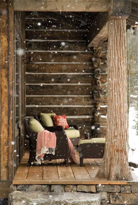 Snowy Porch, Montanaphoto via shallow