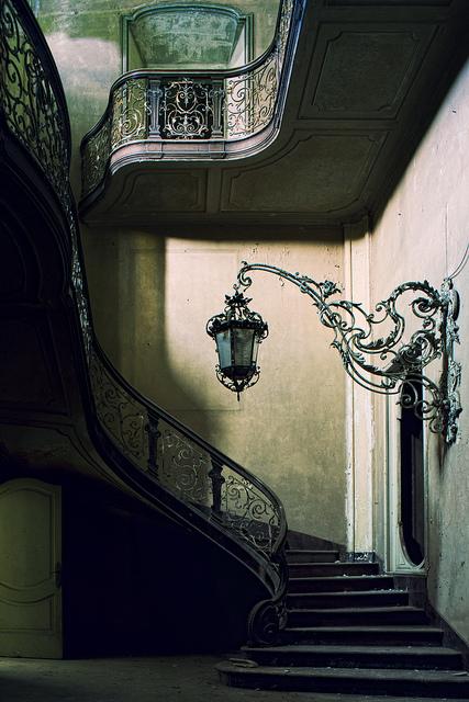 Stairway Lantern, Francephoto via besttravelphotos
