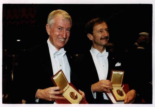 Peter Doherty winning the Nobel Science Prize