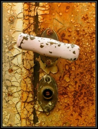 beautiful textured door knob