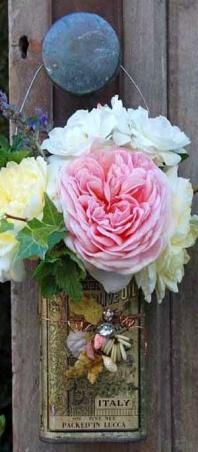 flowered door knob