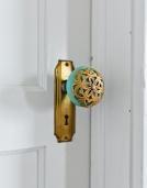 torquoise lace door knob