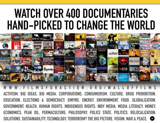400 documentary films www.filmsforaction.org