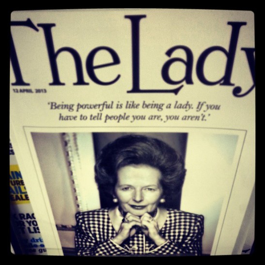 thatcher on the cover 2013