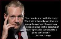 Julian Assange exclusive interview in London, UK, Ecuadorian Embassy - You have to start with the truth. The truth is the only way that we can get anywhere.