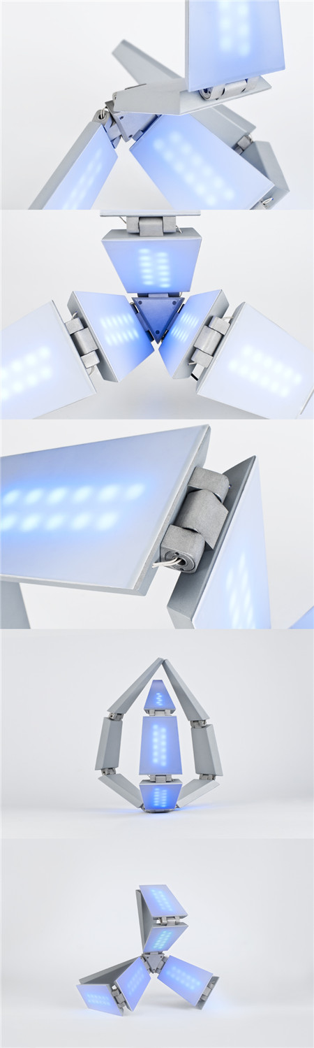 transforming solar lamp