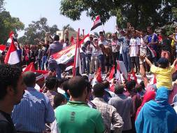 30 June 2013 This was taken outside of the Presidential Palace just minutes ago by Egyptian Streets