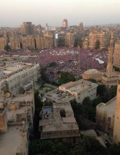 Egyptians in Tahrir Square and across Egypt have erupted in cheers