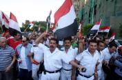 False reports have indicated that police officers that protested against President Morsi were fired