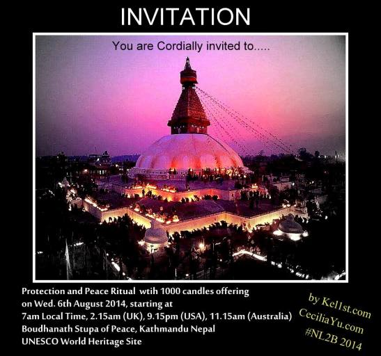 Boudha stupa peace puja 6th August 2014 7am